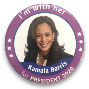 "2020 Kamala Harris ""I'm With Her"" - 3"" Button"