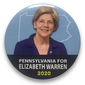 "2020 Pennsylvania for Elizabeth Warren - 3"" Button"