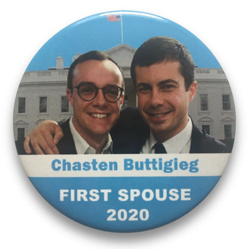 "2020 Pete Buttigieg for President Chasten Buttigieg for First Spouse - 3"" Button"
