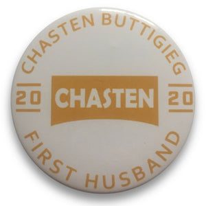 "2020 Pete Buttigieg for President ""Chasten Buttigieg for First Husband"" - 3"" Button"