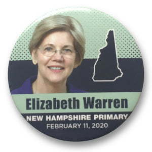 "Elizabeth Warren for President New Hampshire Primary - 3"" Button"