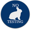 No Animal Testing blue circle