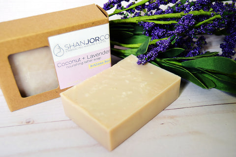 flower lavender soap beige purple wood