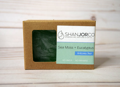 Brown soap box sea moss wood