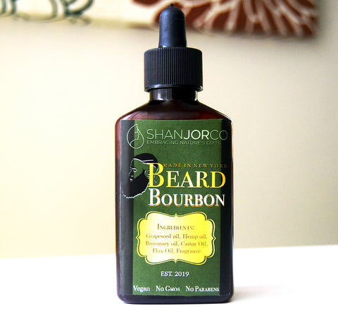 green brown bottle Beard Bourbon Beard Oil