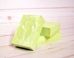 green lime Moringa soap wood white