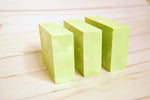 Moringa white green lime soap wood bar three