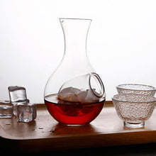 Load image into Gallery viewer, Glass Ice Wine Decanter for Entertaining