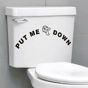 Funny Smile Bathroom Wall/Toilet Stickers