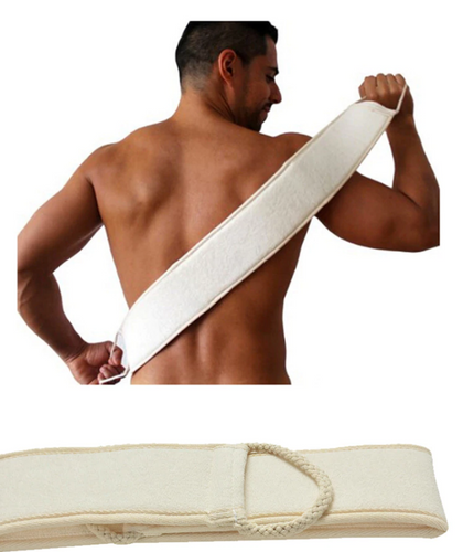 Unisex *Natural*  Exfoliating Back Strap Scrubber *Easy Body Care*