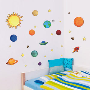 The Star Planet Wall Stickers for Kids Room