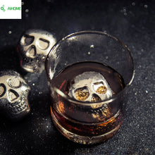 Load image into Gallery viewer, Stainless Steel *Skull* Ice Cubes for Whiskey, Beer, Soda