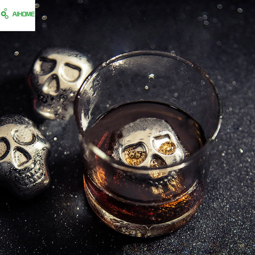 Stainless Steel *Skull* Ice Cubes for Whiskey, Beer, Soda