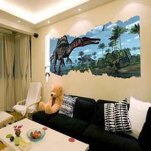 3D World Park Dinosaurs Wall Stickers for Kids Rooms