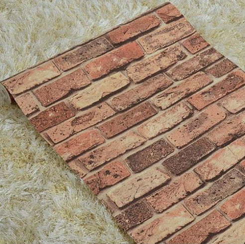 Vintage 3D Rustic Brick Stone Wall Paper