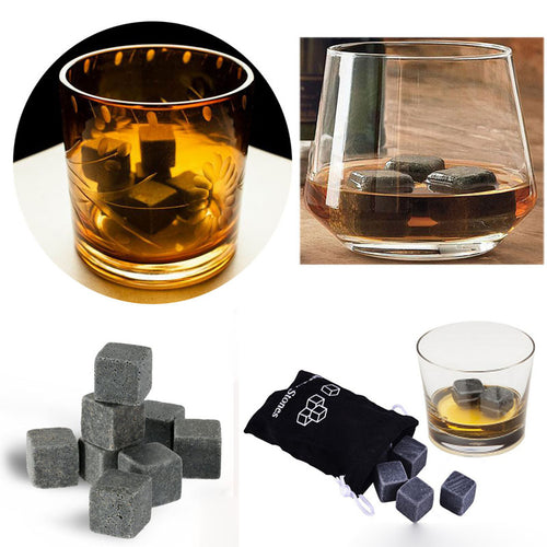 9pc/set High Quality *All Natural* Whiskey Chilling Stones