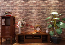 Load image into Gallery viewer, Vintage 3D Rustic Brick Stone Wall Paper