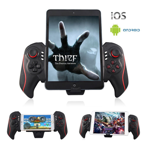Bluetooth 3.0 Wireless Gamepad for Android / iOS Retractable Gamepad