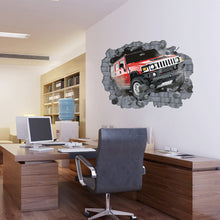 Load image into Gallery viewer, Large 3D Hummer Off-Road Cars Wall Stickers for Boys