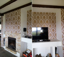 Load image into Gallery viewer, Luxury Damask Wallpaper Floral Carved Embossed Textured PVC Wallpaper