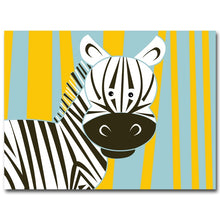 Load image into Gallery viewer, Cartoon Giraffe Lion Elephant Animal Posters and Prints