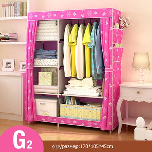 DIY Assembly Wardrobe Single Clothing Storage Cabinet