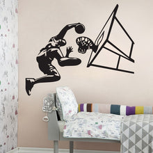 Load image into Gallery viewer, 3D Vinyl Mural stickers 58*110cm Basketball Star Wall Sticker