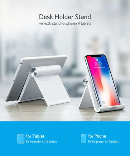 Anti- Slip Handsfree Mobile and Tablet Display Ultra Sleek Flexible Folding Stand