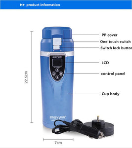 350ML FDA Cleared *Auto Heating* Car Charging Thermo with Adjustable Temperature