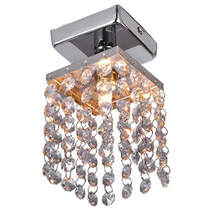 Mini Crystal Chandeliers with Solid Fixture