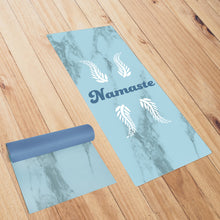 Load image into Gallery viewer, Blue Namaste *NATURAL ORGANIC* Smart Yoga Mat