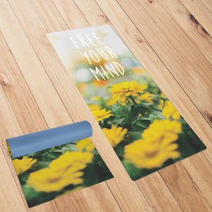 "Naturally Organic ""Free Your Mind"" Smart Yoga Mat"