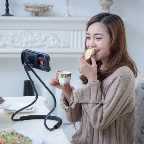 LAZY Bracket Universal 360 Degree Rotation *NO SHAKE* Phone Selfie Holder
