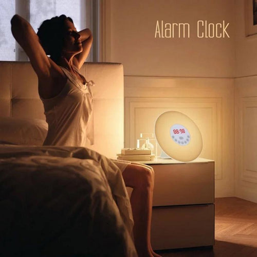 Wake Up *Natural Light* Sunrise Simulation Alarm Clock With Sunset & Snooze