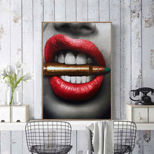 Load image into Gallery viewer, Sexy Red Lip Money Bite Bullet Print