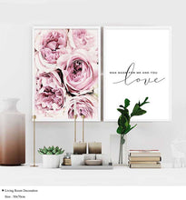 Load image into Gallery viewer, Love and Flowers Art Print