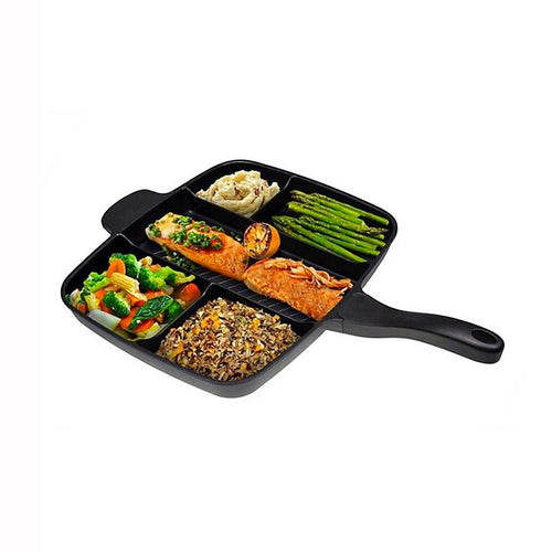 Aluminum Alloy 15'' Fryer Pan Non-Stick 5 in 1 Pan