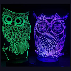 "3D Animals LED Night Light With Remote Control for Kids ""Limited Stock"""