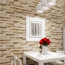 Load image into Gallery viewer, Modern 3D Stone Brick Wall Non-woven Wallpaper