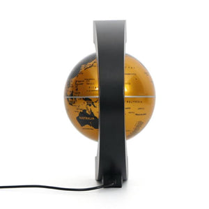 Gold C Shape Magnetic Levitation Floating Globe with LED Lights