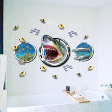 Load image into Gallery viewer, Amazing 3D Underwater World Shark Submarine Wall Stickers