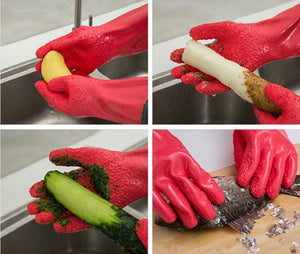 2Pc/pair Creative Magic *Quick* Peeling Fruit/Vegetables Gloves