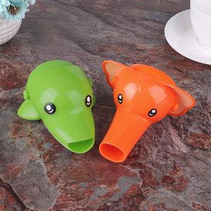 Extra Long Happy Animals *Mess-Free* Faucet Extender For Kids Hand Washing