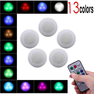 5Pcs - 13 Colors Wireless Dimmable Touch Sensor LED Light With Remote Control
