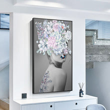 Load image into Gallery viewer, Modern Big Size Nordic Poster Flower Girl Oil Painting