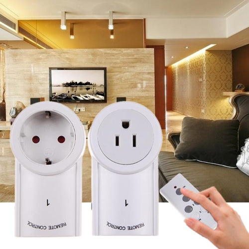 2Pcs US/EU Plug Wireless Remote Control Smart Home Power Outlet