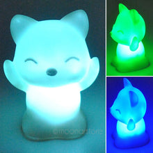 Load image into Gallery viewer, 7 Changing Colors LED FOX Night Light for Kids 100,00hr Light Life ($1 SHIPPING)