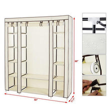 Load image into Gallery viewer, DIY Assembly Wardrobe Single Clothing Storage Cabinet