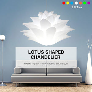 7 Colors DIY E27Lotus Shape 6 Layers Chandelier