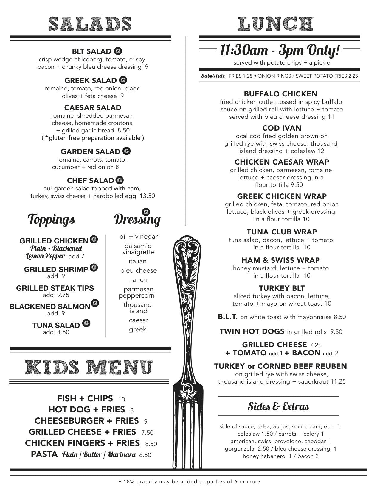 Lost Dog Pub Orleans Salad Menus